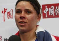 Savannah Marshall, 75 kg World Champion from Great Britain.