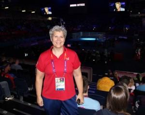 USA Coach Christy Halbert at the Olympics