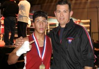 Alexis Urbina and Coach Soto at the 2013 USA National Championship